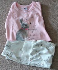 New girl 100% cotton pajamas pink and cream 18-24 months