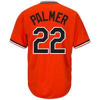 Jim Palmer Baltimore Orioles Majestic Orange Cooperstown Cool Base Jersey M