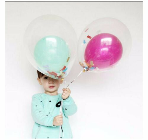 5-60 Round Clear Transparent Color Big Giant Balloon For Birthday Party CONFETTI