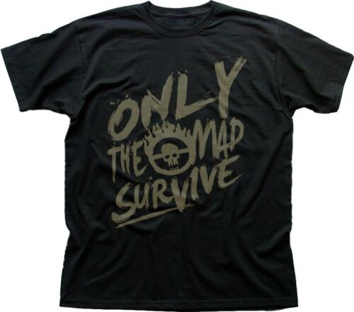 Mad Max inspired Only The mad Survive black printed t-shirt FN9361
