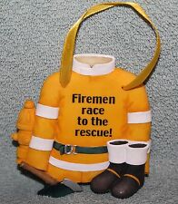 """Firemen Race to the Rescue Signs of the Times Wall Hanging by Enesco  3 1/2"""" x4"""""""