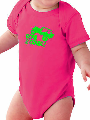 BORN 2 CRAWL BABY CREEPER INFANT ONE PIECE ROCK CRAWLER JEEP 4X4 PINK OFF ROAD