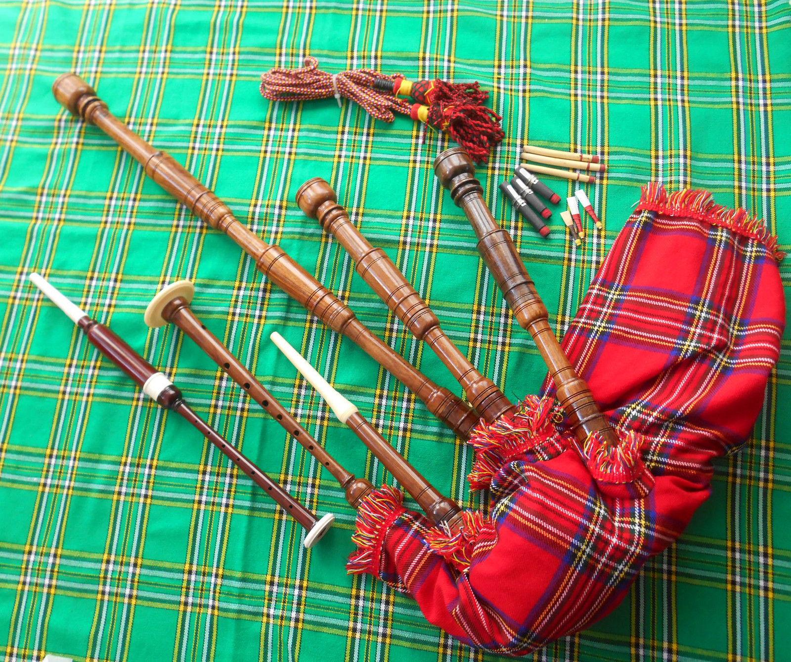 Hw Schottischer Großer Highland Dudelsack Palisanderholz Komplettset Dudelsack