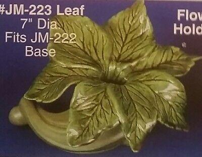 1 Giessform Für Keramik Jm-223 Blatt-kerzenhalter 17.7 Cm