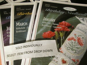 Victoria-Sampler-Birthday-Needleroll-Cross-Stitch-CHART-Leaflet-Your-Choice