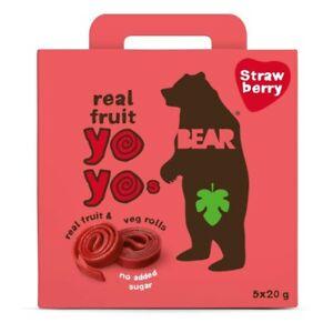 Bear Yo Yo's Strawberry Real Fruit & Veg Rolls 5 Pack 100g