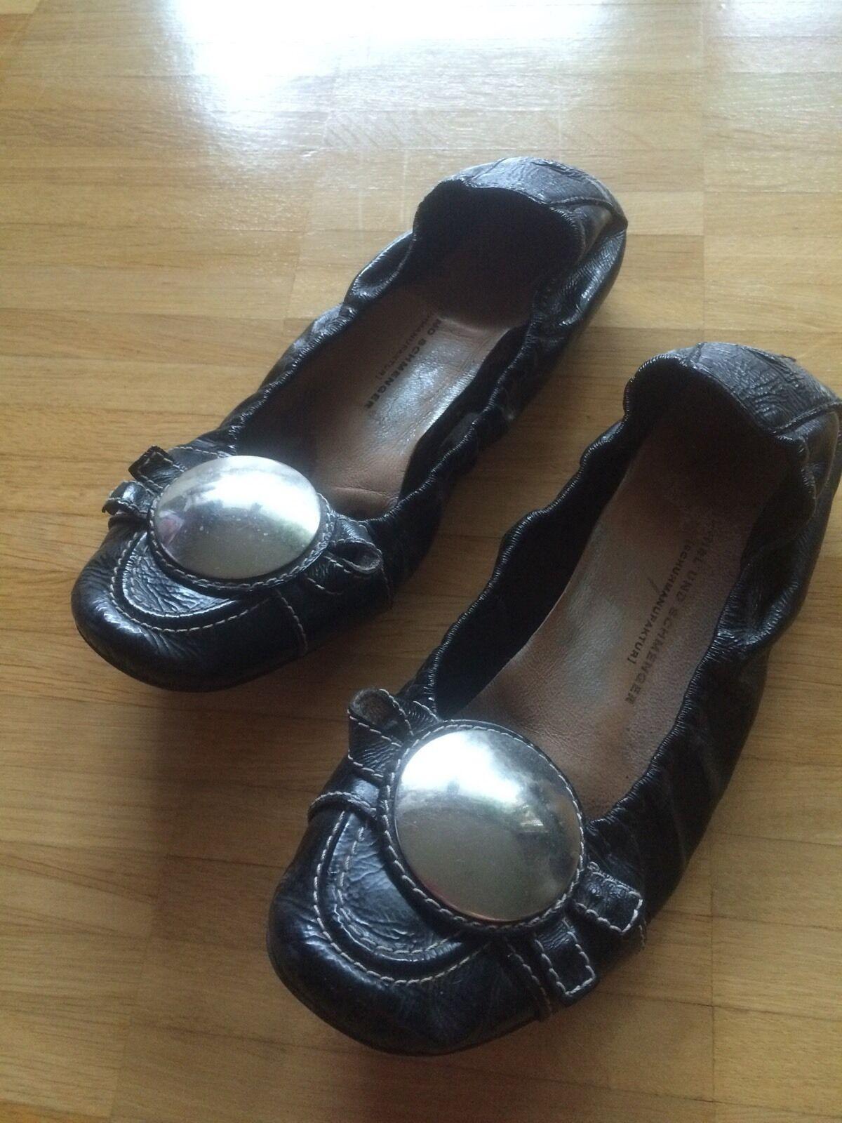 % Kennel & Schmenger Ballerinas 38/39 Schuhe Schwarz Lackleder EUR 38/39 Ballerinas UK 6 TRAUM 272679