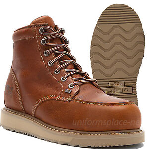 8b7a3b71de5 Details about Timberland PRO Work Boots Mens Barstow Wedge Safety Toe 88559  Leather Moc Toe