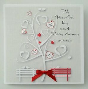 Details about Personalised On Our Wedding Anniversary Card Wife Husband 1st  2nd 3rd 4th 5th