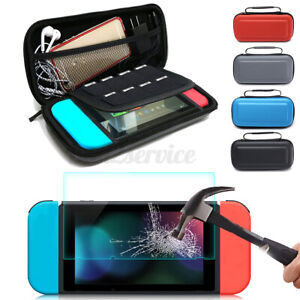 US Storage Bag Carry Case + Tempered Glass Screen Protector For Nintendo