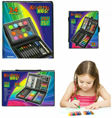 51 Children Kids Art Set 24 86 Pcs Crayons Paints Pens Pencils XMAS Gift Set