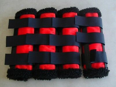 Horse Fly Mesh Boots Set of 4 Red /& a Black Australian Made Summer Protection