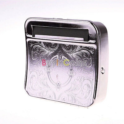 New Metal Automatic Tobacco Roller Smoking Cigarette Rolling Box Machine Case 01