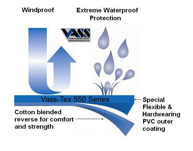 VASS PERFORMANCE RAINWEAR OILSKIN BRACE BIB AND BRACE OILSKIN Blau VASS-TEX 550 SERIES 9013f2