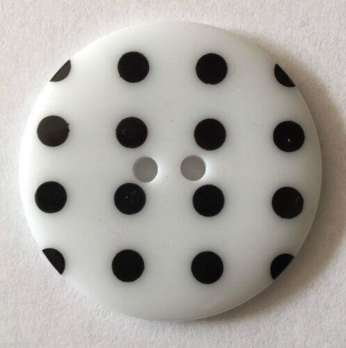 Round Plastic Polka Dot Spot 2 Hole Buttons Quantity Choose Colour Size