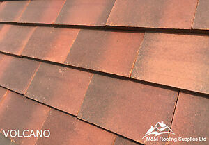 Image Is Loading New Machine Made Clay Roof Tiles Volcano Plain