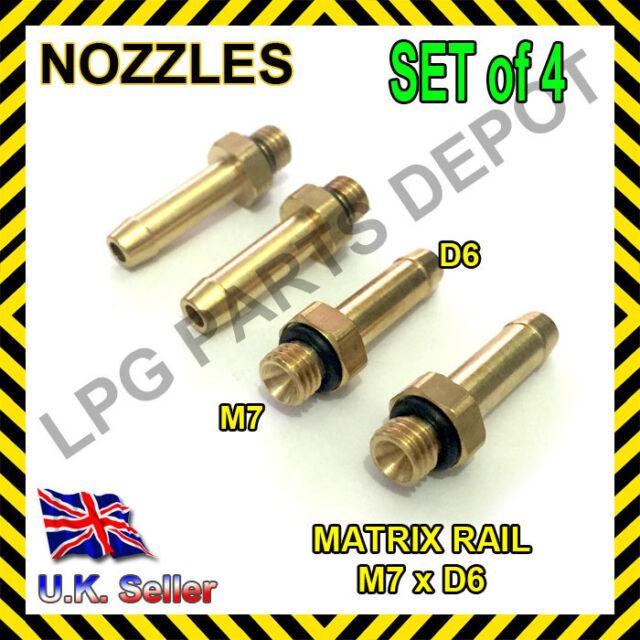 LPG GPL 4xD6xM7 nozzles SET injector MATRIX jets manifold vacuum Flow gas nipple
