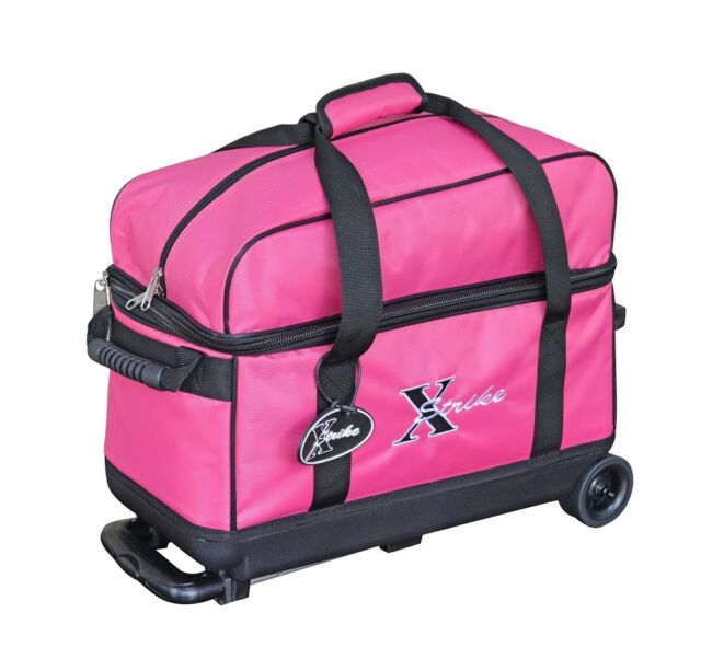 NEW XSTRIKE 2 BALL ROLLER BOWLING BAG PINK, SPECIAL SALE PRICE $47.95