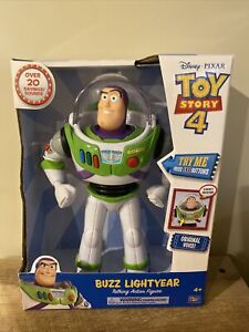 DISNEY PIXAR TOY STORY 4 BUZZ LIGHTYEAR TALKING ACTION FIGURE!