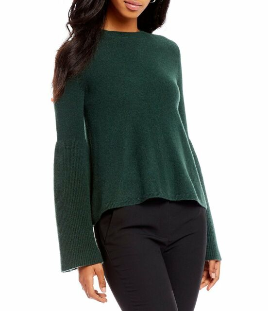 ANTONIO MELANI DEEP GREEN ELVIRA 100% CASHMERE SWEATER TOP L NWT