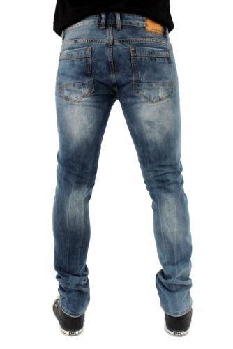 Streetwear Ace Bas Skinny Jeans Extensible Délavé B118