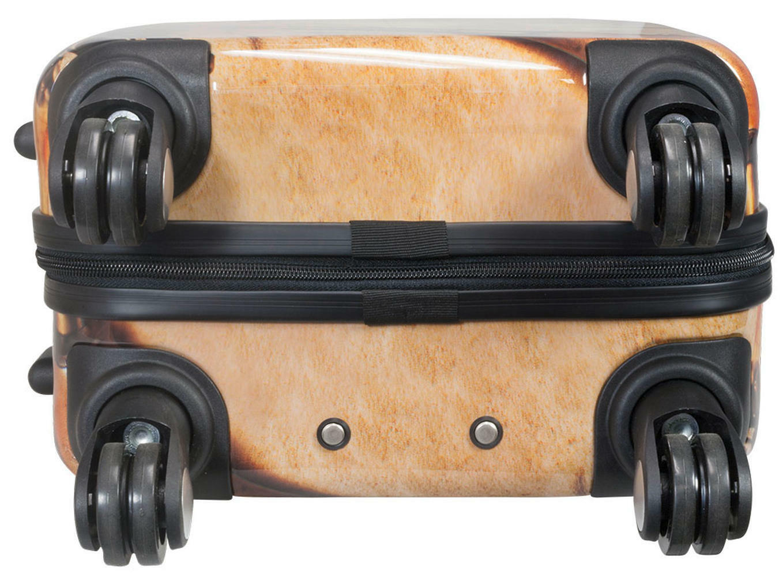 Bagages à main main main trolley 4 roulettes motif rétro nautiques cartes maritimes voyage par mer taille M 54cm 25l 475ccc