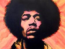 Jimmy Hendrix Pop Art 16x12 Art Print Poster Wall Decor by Ed Capeau