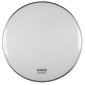 Code-Enigma-22-034-White-Bass-Kick-Drum-Resonant-Reso-Head-with-Dampening-Ring