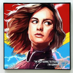Captain-Marvel-Pop-Art-canvas-quote-wall-decals-poster-photo-painting