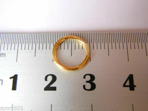 Vente chaude Authentique 999 24K Or Jaune Femmes Cercle Boucles d/'oreilles Créoles 11-12 mm