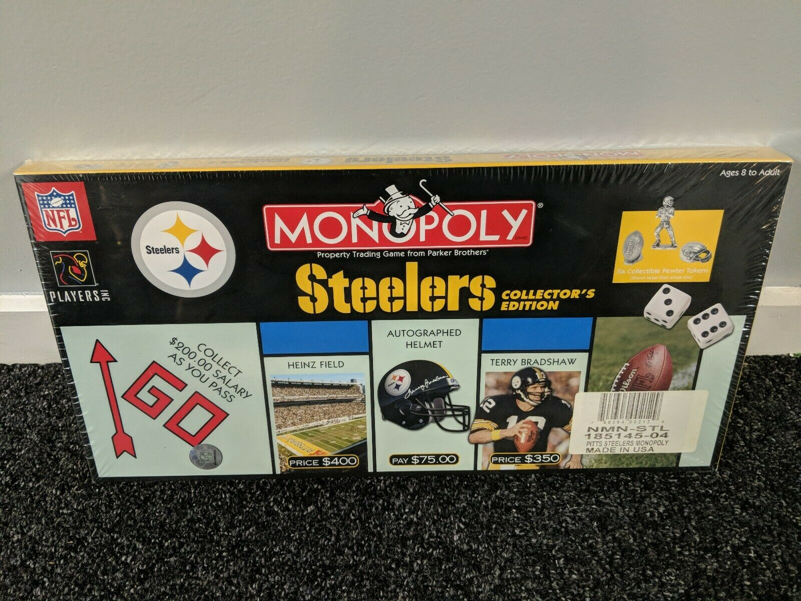 Pittsburgh Steelers 2004 Collector's Edition Factory Factory Factory Sealed Monopoly Game 67d00a