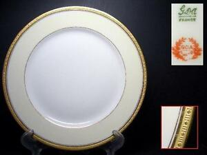 GDA-LIMOGES-CHAS-FIELD-HAVILAND-BREAD-PLATE-5-GOLD-ENCRUSTED
