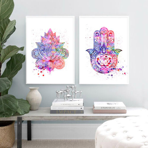 Hamsa Life of Flower Yoga Canvas Art Poster Abstract Print Modern Wall Picture