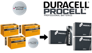 DURACELL INDUSTRIAL AA Batteries NOW PROCELL Alkaline MN1500 -Exp 2026 (30 Pack)