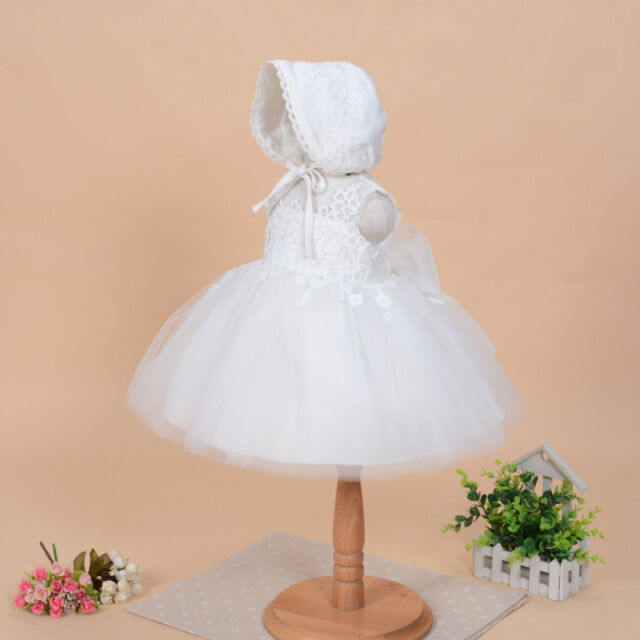 Antique Baby Christening Gown Newborn Toddler Baby Girl Baptism Dress 3-18 Month