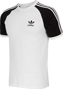 Women-Adidas-California-Trefoil-T-shirt-short-sleeve-White-Black-S-M-L-XL