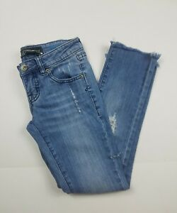 Volcom-Liberated-Distressed-Light-Wash-Skinny-Jeans-Womens-Juniors-Size-00