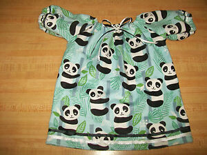 """PANDA BEAR IN FOREST NITEY WITH RIBBONS+BUTTON for 16-17/"""" CPK Cabbage Patch Kids"""