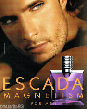 PUBLICITE ADVERTISING 056  2004   Escada  eau de toilette homme Magnetism