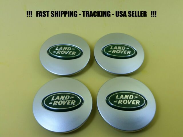 Land Rover Logo OEM Range Rover Satin Silver Bright Aluminum Wheel Cap Set of 4