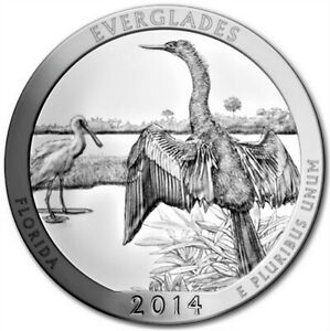(2014) 5 Oz America Is The Beauty Everglades National Park FL Silver Coin