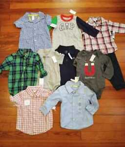 New 10 Piece Lot Baby Boy 12 18 Months Shirts Bodysuit Gap Kids Carters Old Navy Ebay