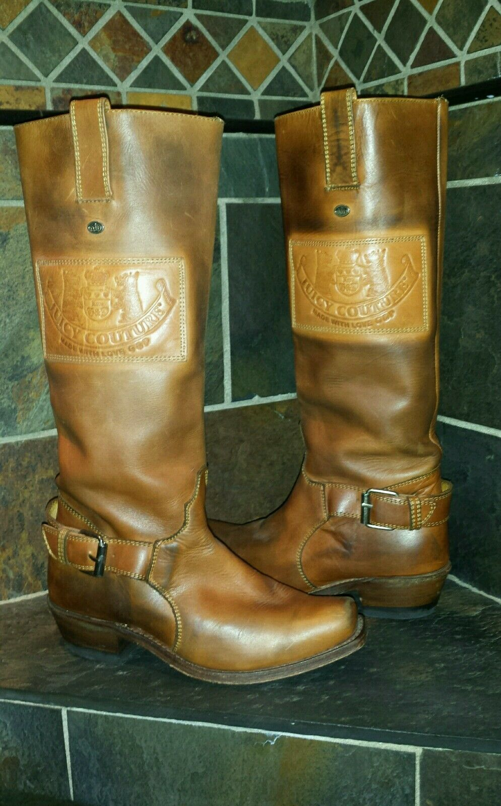 Juicy Couture Leather Riding Boots