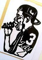 JAY-Z, Original Pop Art, Music Celebritie 5½ X 8 inches Vinyl Sticker Portrait