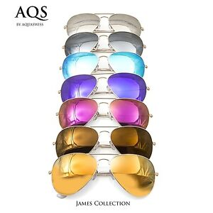 e95f0f35dd6 Image is loading AQS-By-Aquaswiss-James-Unisex-Aviator-Sunglasses