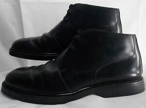 RICHARDS-Men-039-s-Black-Leather-Chukka-Ankle-Boots-Size-US-7-EU-40-Lace-Up