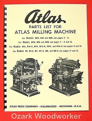 Search For Flights Atlas Horizontal Milling Machine Instructions & Parts Manual All Models 0016 Finely Processed Metalworking Manuals, Books & Plans Woodworking Manuals & Books