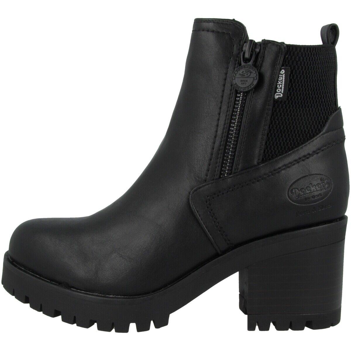 Dockers by Gerli 37CE221 Schuhe Stiefeletten Stiefel Stiefel schwarz 37CE221-610100