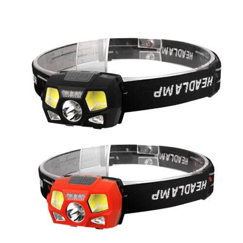 XPE COB LED Headlight Wave Sensor Flashlight for Outdoor Fishing Camping F07#