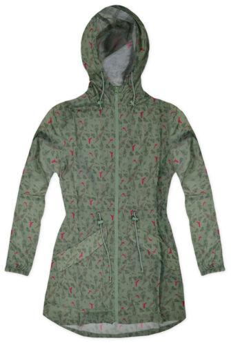 Ladies Lightweight Printed Raincoat Parka New Womens Rain Mac Sizes UK 8-26